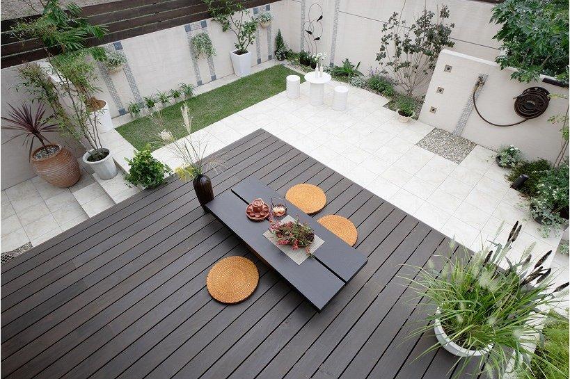 庭とウッドデッキ