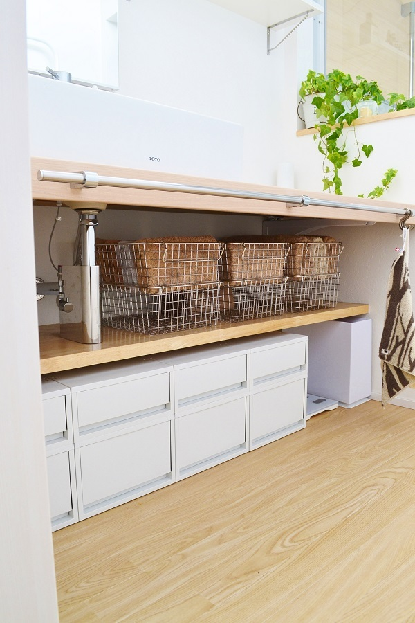 生活感よさようなら!洗面所収納のアイデア11選でおしゃれ空間のできあがり!
