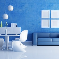 blue color interior design