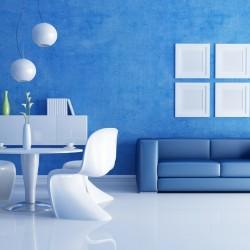 blue color interior design