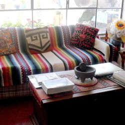 A Flea Market Findxican Blanket As A Couch Cover New Home In throughout Blanket To Cover Sofa